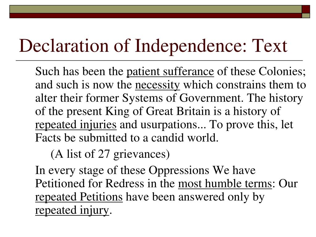 Declaration of Independence: Text