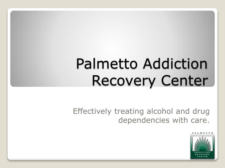 palmetto addiction recovery center n.