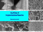surfoss ii implantatoberflaeche nano structured