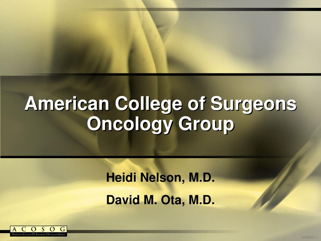 american college of surgeons oncology group l.