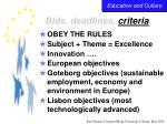 bids deadlines criteria37