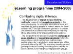 elearning programme 2004 200626