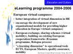 elearning programme 2004 200627