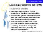 elearning programme 2004 200628