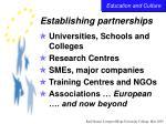 establishing partnerships31