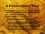 ii evangelical missionary efforts