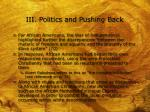 iii politics and pushing back7