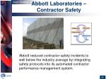 abbott laboratories contractor safety
