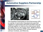 automotive suppliers partnership