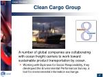 clean cargo group