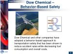 dow chemical behavior based safety