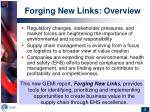 forging new links overview