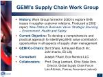 gemi s supply chain work group