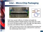 intel micro chip packaging
