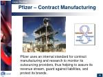 pfizer contract manufacturing