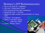 biotrace s atp bioluminescence