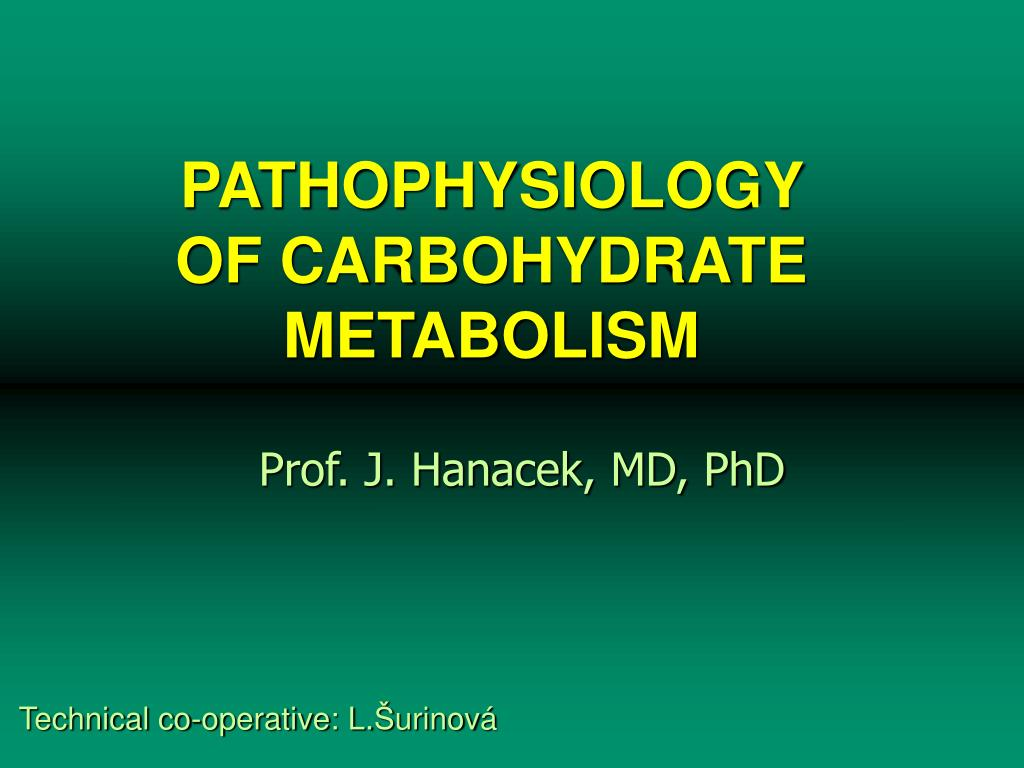pathophysiology of carbohydrate metabolism l.