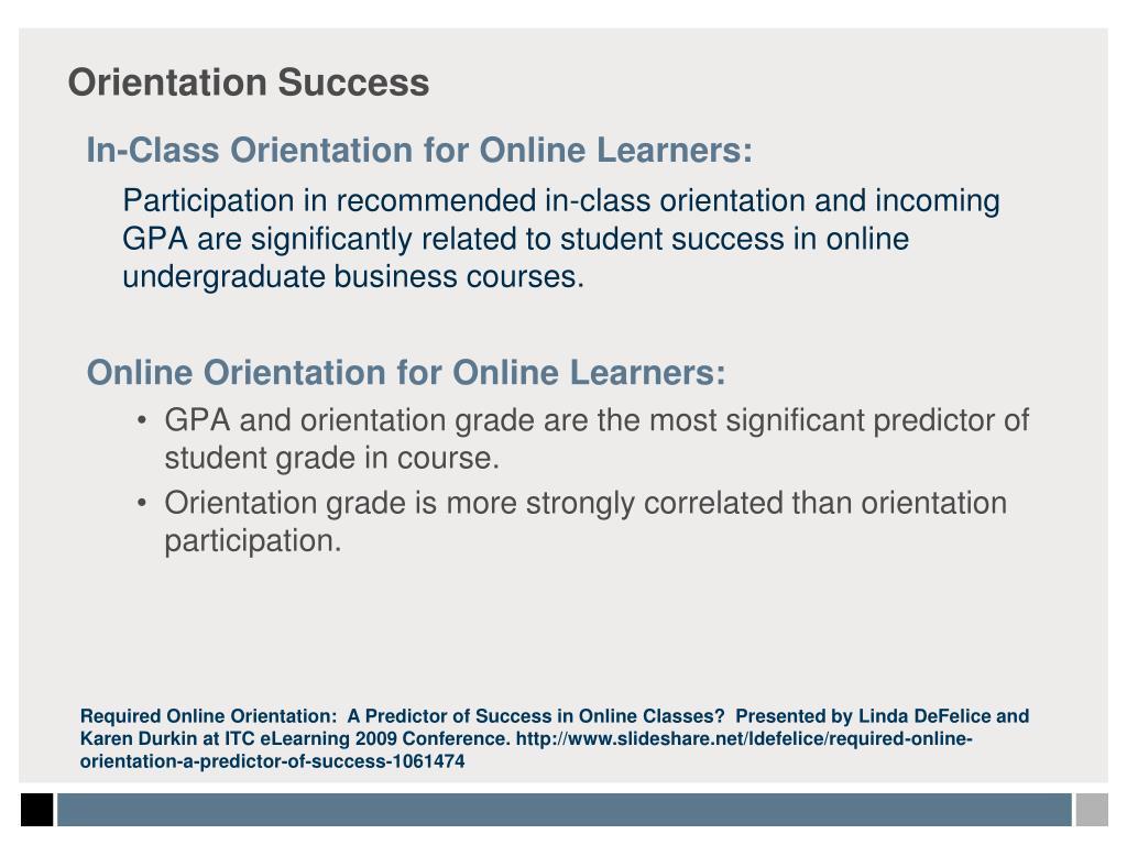 Orientation Success