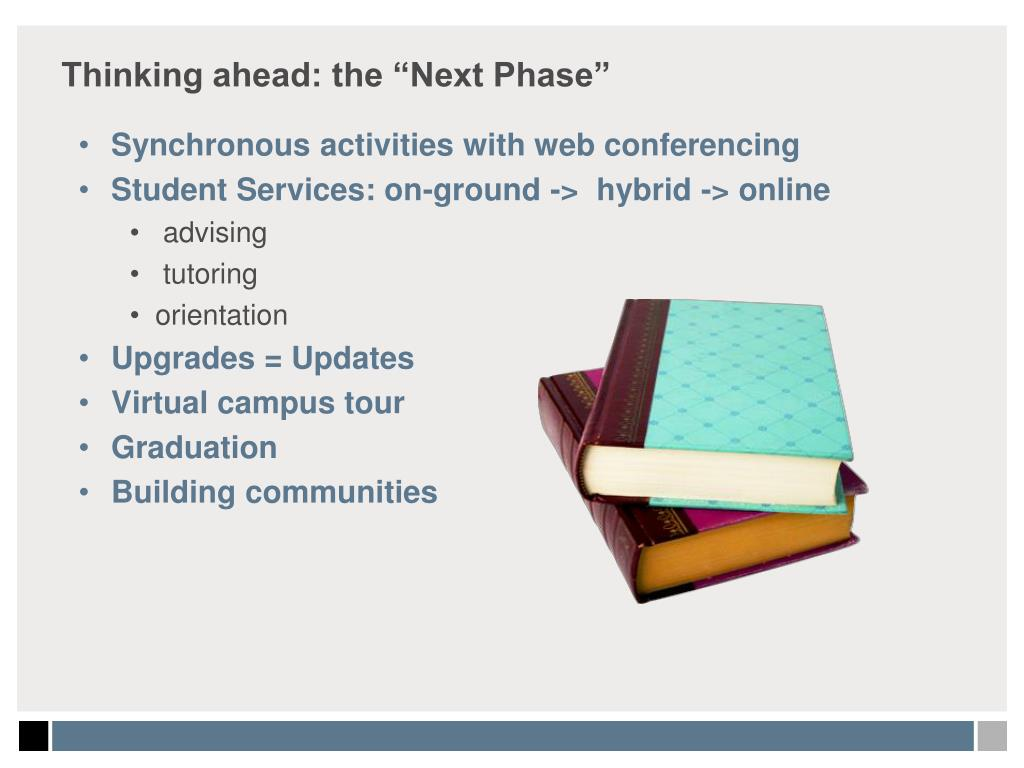 "Thinking ahead: the ""Next Phase"""