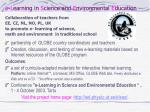 e l earning in s cience and e nvironmental e ducation