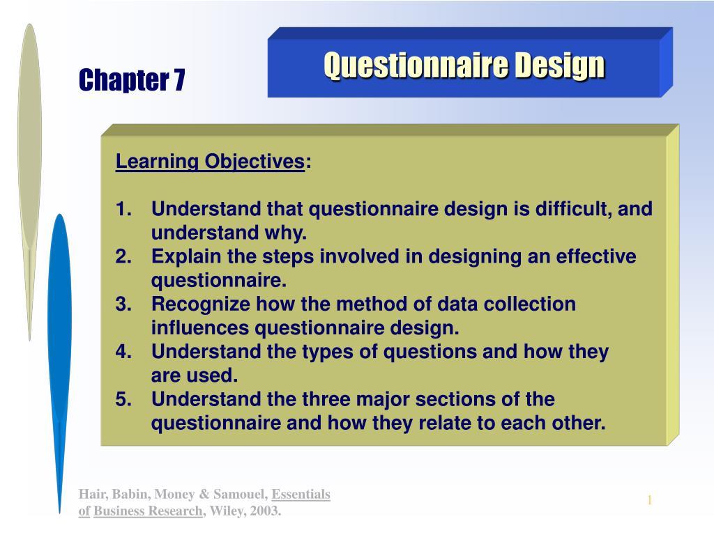 questionnaire design l.