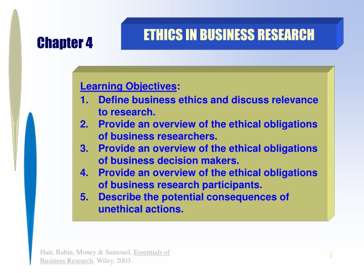 an overview of business ethics Chapter 1: executive summary business ethics in an organization is to establish codes of conduct with the respected and positive attitude for employees.