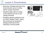 lesson 3 environments