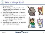 who is manga start