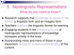 5 nonlinguistic representations what do you need to know