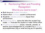 reinforcing effort and providing recognition what do you need to know