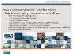 angus chemical company a strong history