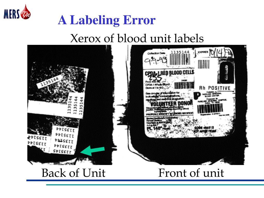 A Labeling Error