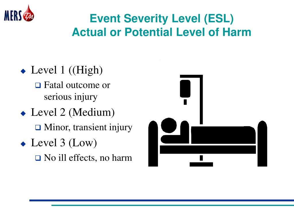 Event Severity Level (ESL)