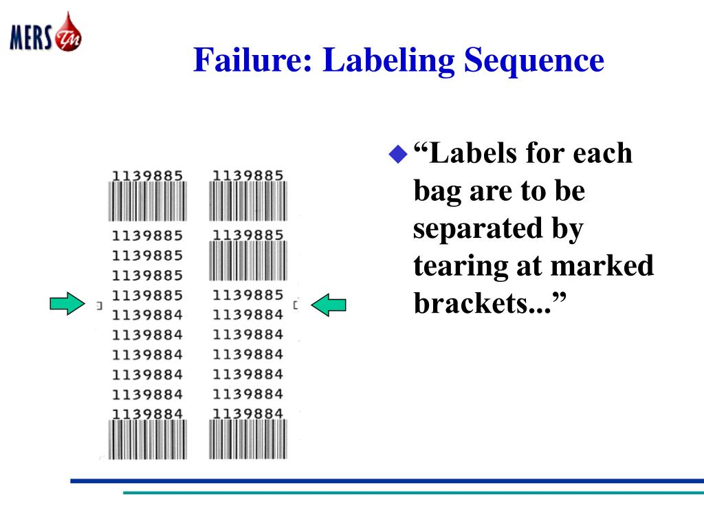 Failure: Labeling Sequence