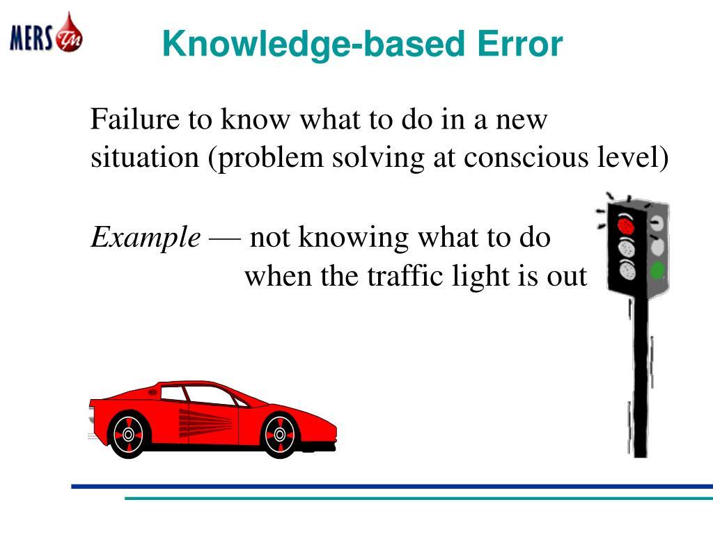 Knowledge-based Error