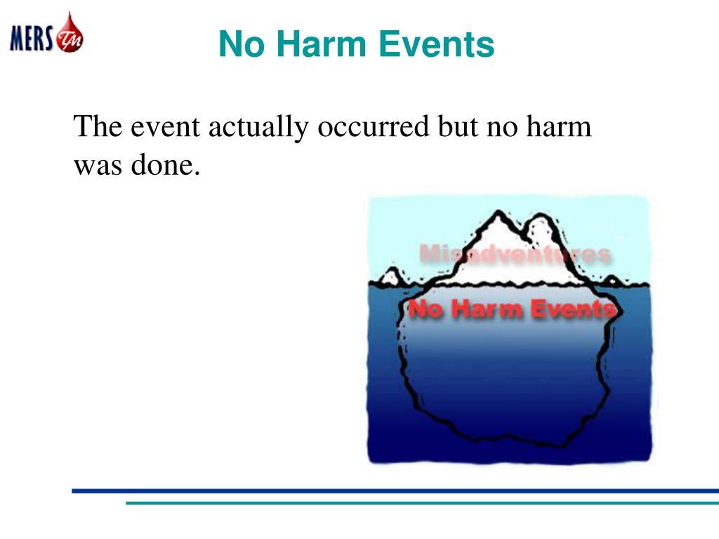 No Harm Events
