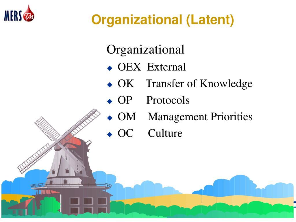Organizational (Latent)