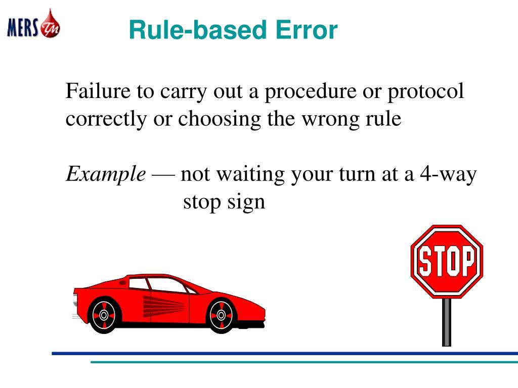 Rule-based Error