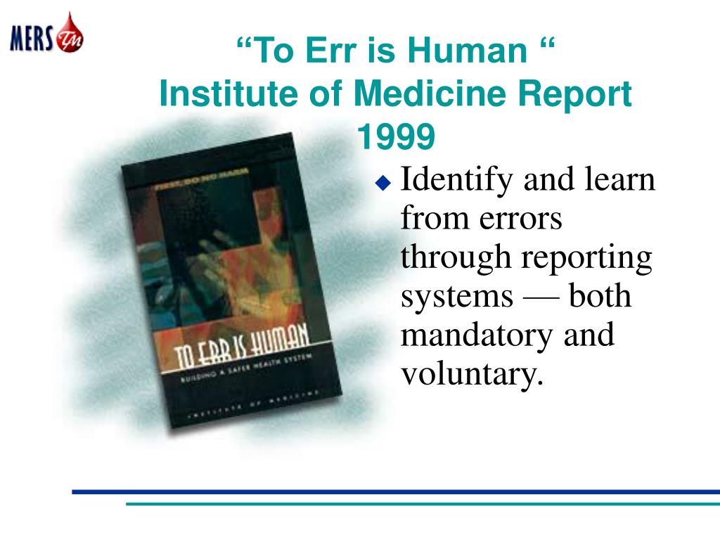 """""""To Err is Human """""""