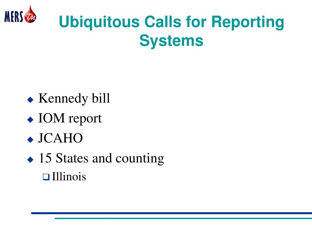 Ubiquitous Calls for Reporting Systems