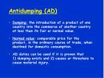 antidumping ad