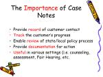 the importance of case notes