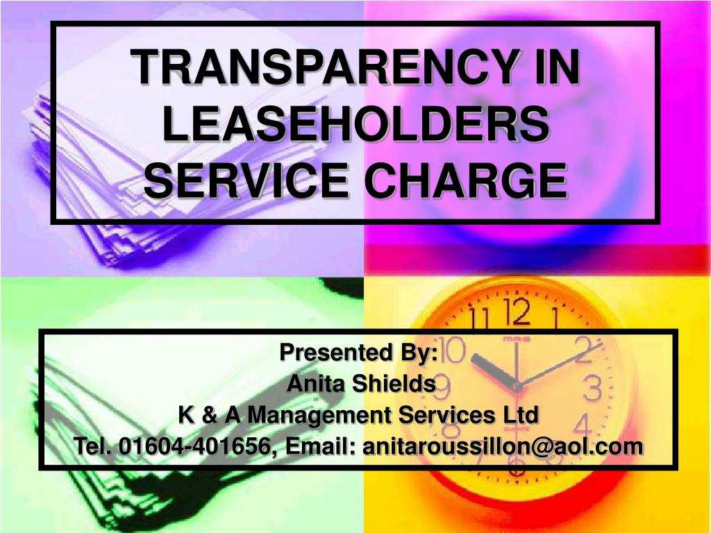 transparency in leaseholders service charge l.