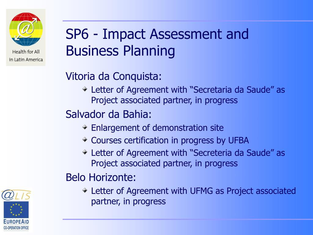 SP6 - Impact Assessment and Business Planning