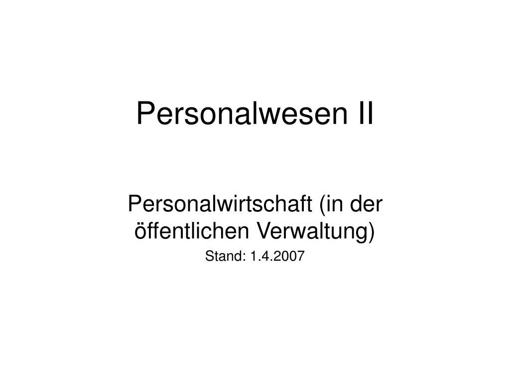 personalwesen ii l.
