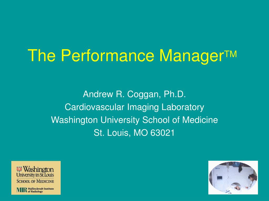 the performance manager tm l.