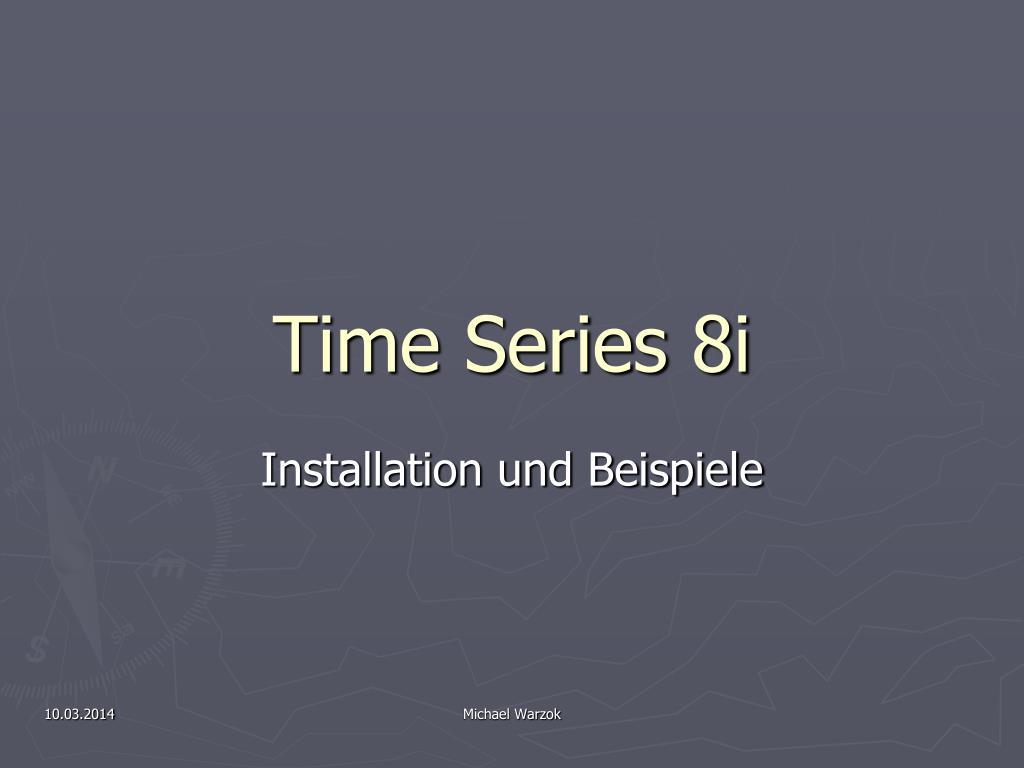 time series 8i l.
