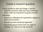 create a research question