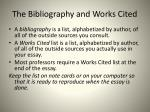 the bibliography and works cited