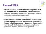 aims of wp3